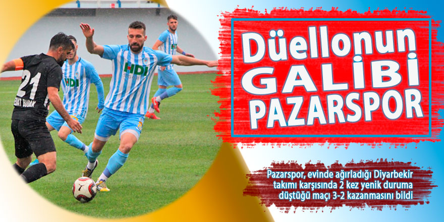 Düellonun galibi Pazarspor