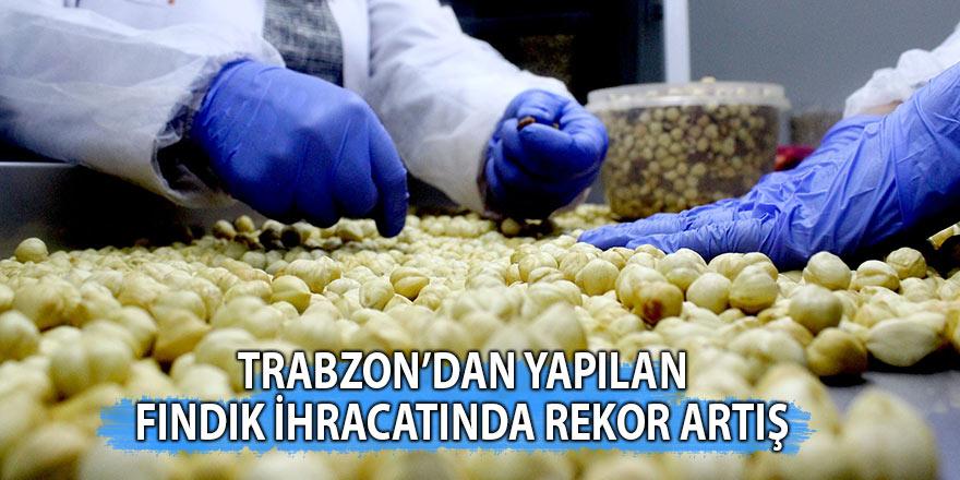 Trabzon'dan yapılan fındık ihracatında rekor artış