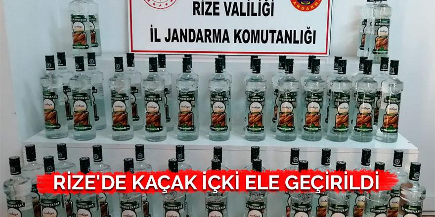 Rize'de kaçak içki ele geçirildi
