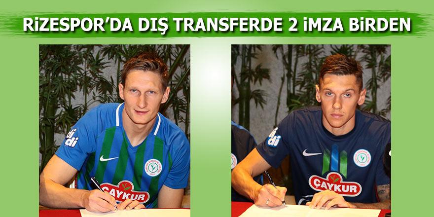 Rizespor, Milan Skoda ve Denys Harmash'la sözleşme imzaladı