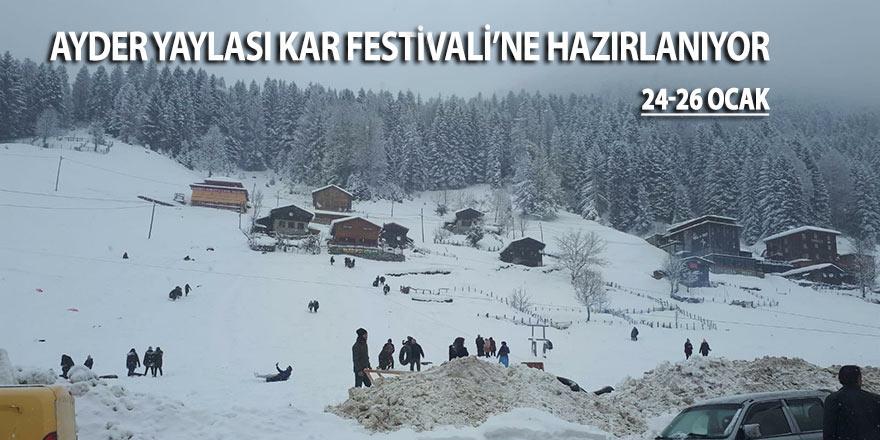 Ayder Yaylası Kar Festivali'ne hazırlanıyor