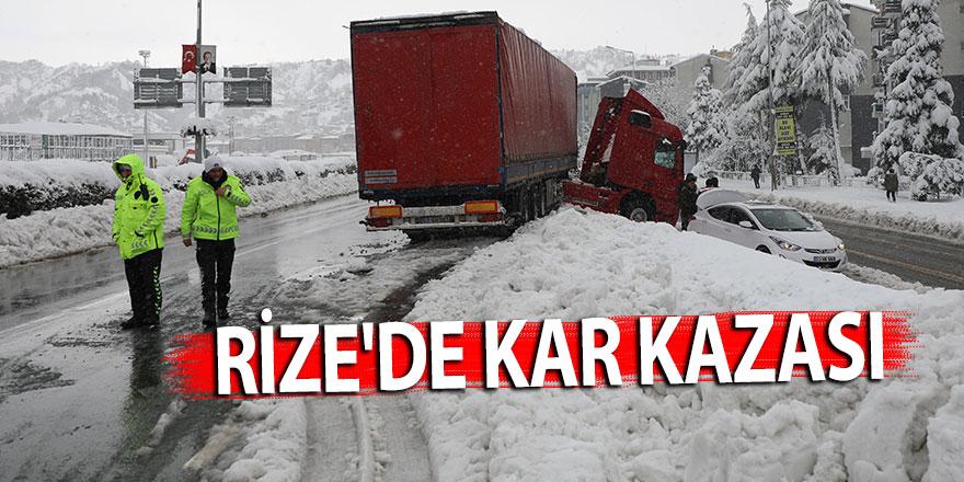 RİZE'DE KAR KAZASI