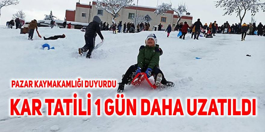Pazar'da kar tatili 1 gün daha uzatıldı