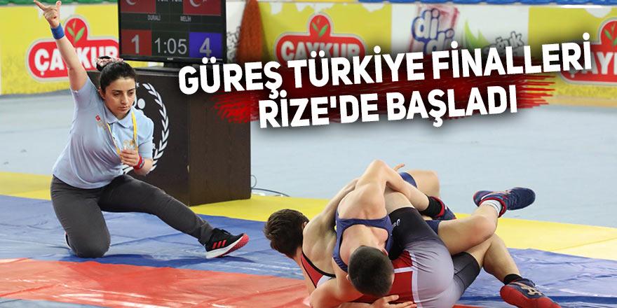 Güreş Türkiye Finali Rize'de başladı