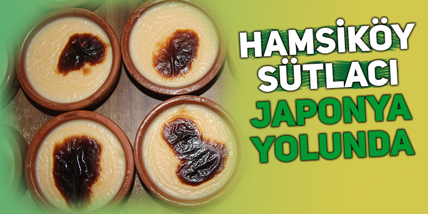 Hamsiköy sütlacı Japonya yolunda