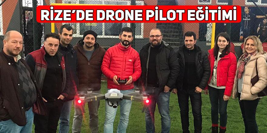 Rize'de drone pilot eğitimi düzenlendi