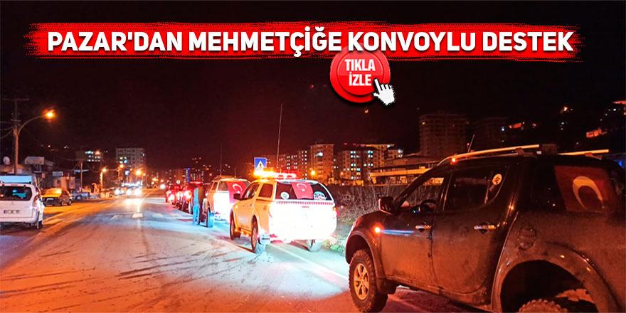 Pazar'dan Mehmetçik için konvoylu destek