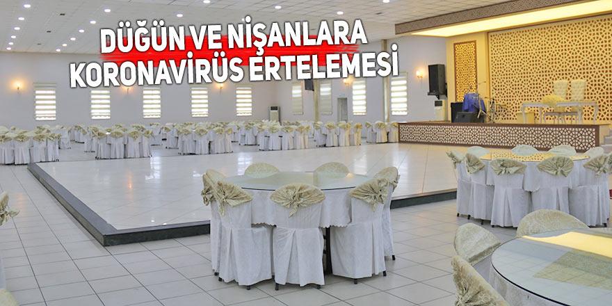 Düğün ve nişanlara koronavirüs ertelemesi