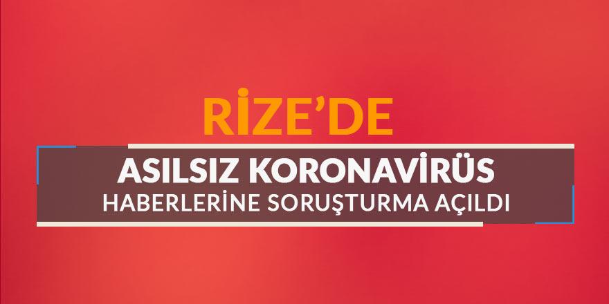 Rize'de asılsız koronavirüs haberine soruşturma