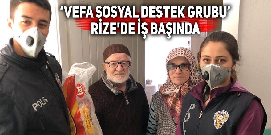 'Vefa sosyal destek grubu' Rize'de iş başında
