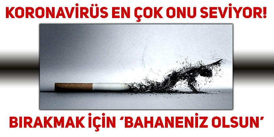 """Koronavirüs sigarayı bırakmak için """"bahaneniz olsun"""""""