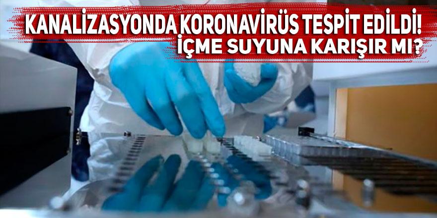 Kanalizasyonda koronavirüs tespit edildi! İçme suyuna karışır mı?