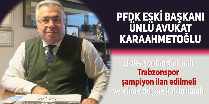 Ünlü avukat Trabzonspor'u şampiyon ilan etti!