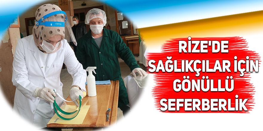 Rize'de sağlıkçılar için gönüllü seferberlik