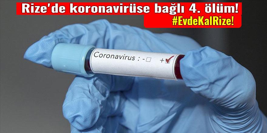 Rize'de koronavirüse bağlı 4. ölüm!