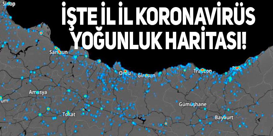 İşte il il koronavirüs yoğunluk haritası!