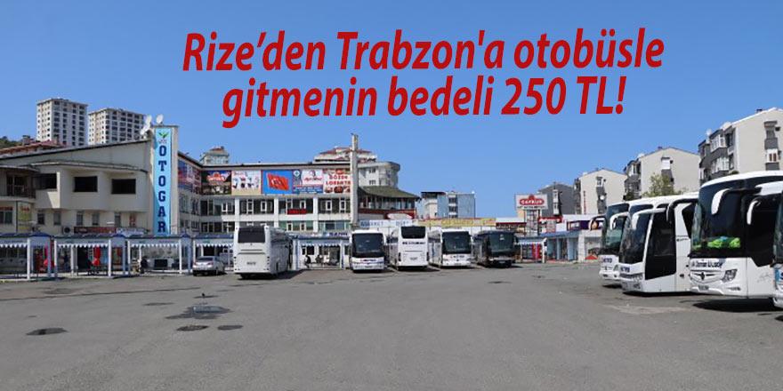 Rize'den Trabzon'a otobüsle gitmenin bedeli 250 TL