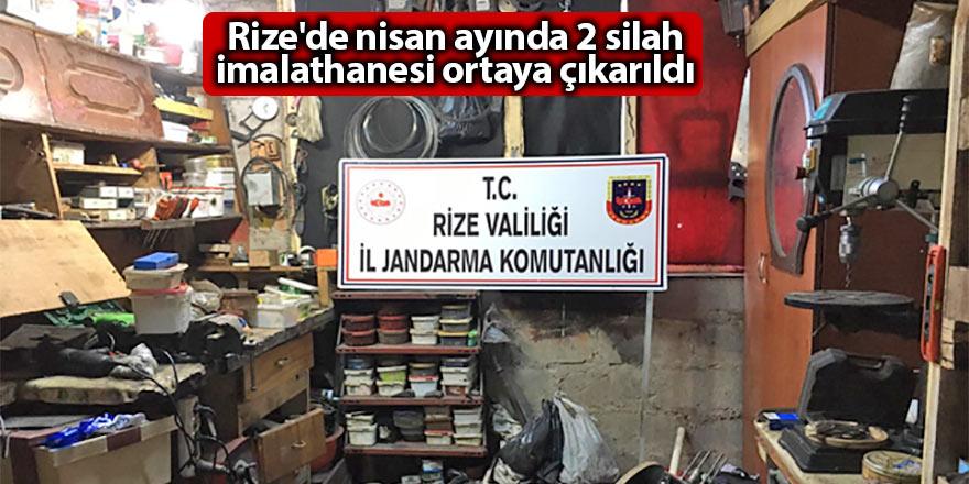 Rize'de nisan ayında 2 silah imalathanesi ortaya çıkarıldı