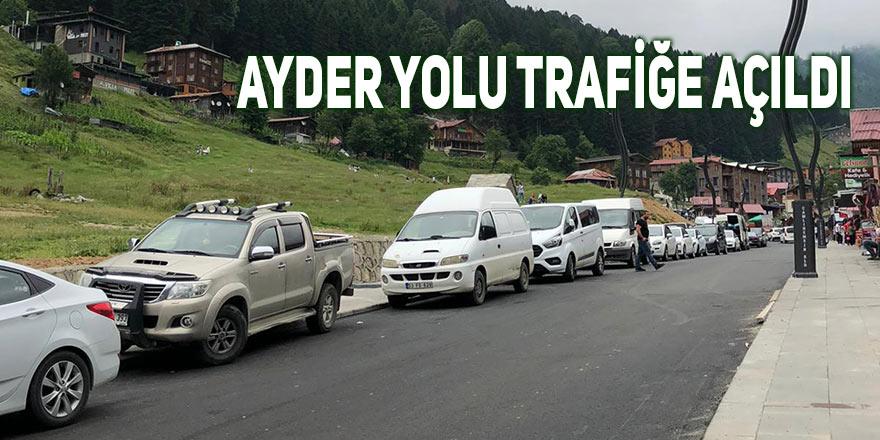 Ayder yolu trafiğe açıldı