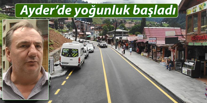 Ayder'de yol açıldı turistler rezervasyona başladı