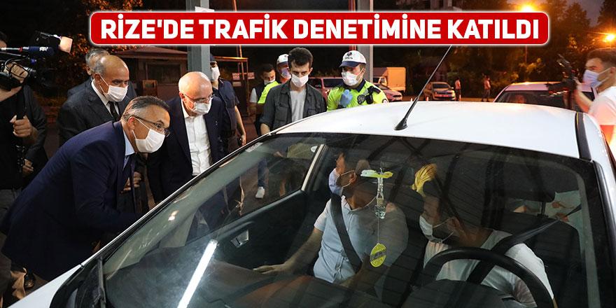 İçişleri Bakan Yardımcısı, Rize'de trafik denetimine katıldı