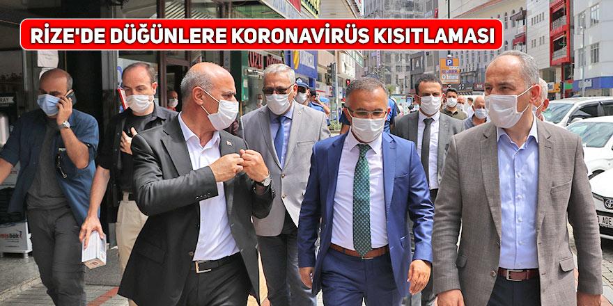 Rize'de düğünlere koronavirüs kısıtlaması