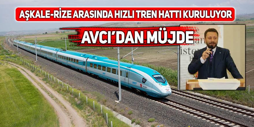 Aşkale-Rize arasında hızlı tren hattı kuruluyor