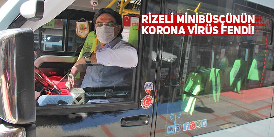 Rizeli minibüsçünün korona virüs fendi!