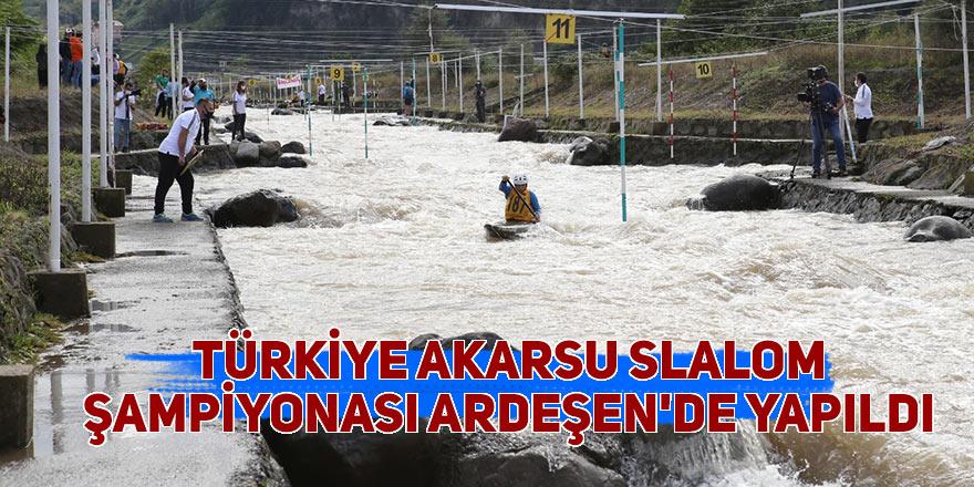 Türkiye Akarsu Slalom Şampiyonası Ardeşen'de yapıldı
