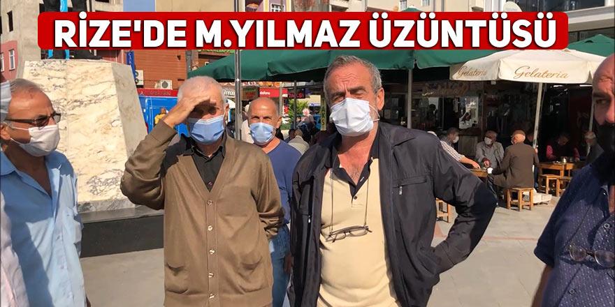 Rize'de Mesut Yılmaz üzüntüsü