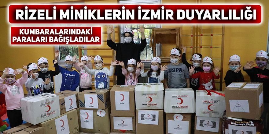 Rizeli minik öğrencilerin İzmir duyarlılığı