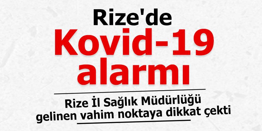 Rize'de Kovid-19 alarmı