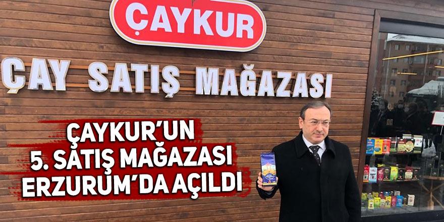 Çaykur'un 5. satış mağazası Erzurum'da açıldı