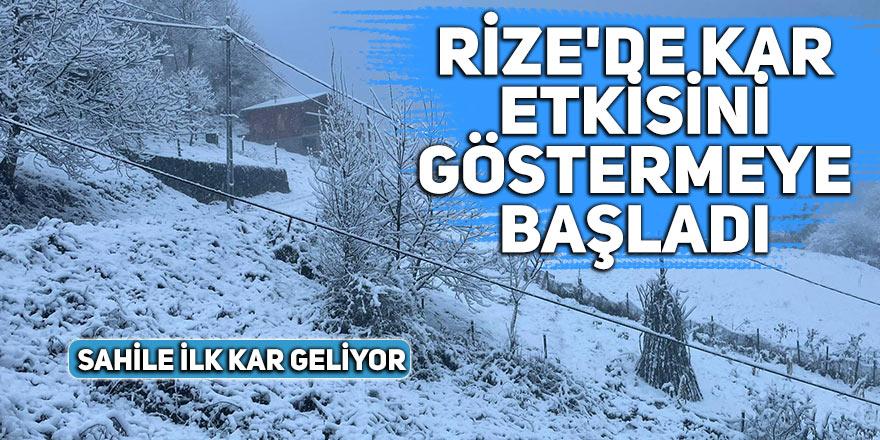 Rize'de kar etkisini göstermeye başladı