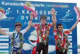 Bisiklet yarışında Türkiye birinci