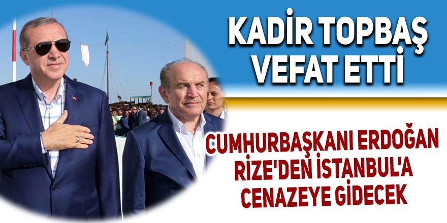 Rize'den İstanbul'a cenazeye gidecek