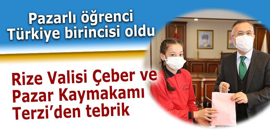 Pazarlı öğrenci Türkiye 1'incisi oldu