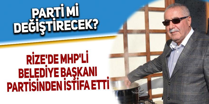 Rize'de MHP'li belediye başkanı partisinden istifa etti