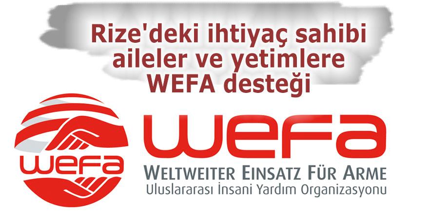 Rize'deki ihtiyaç sahibi ailelere ve yetimlere WEFA desteği