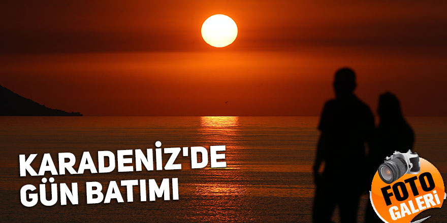 Karadeniz'de gün batımı