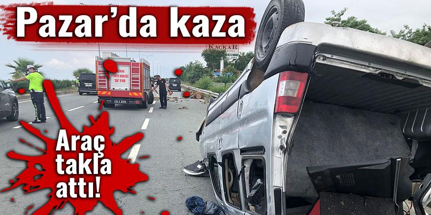 Pazar'da trafik kazası: 1 yaralı