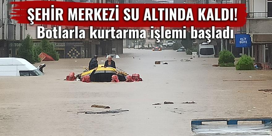 Şehir merkezi su altında kaldı!