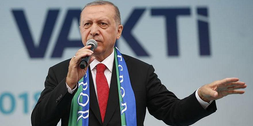Cumhurbaşkanı Erdoğan'dan Rize'de sel incelemesi