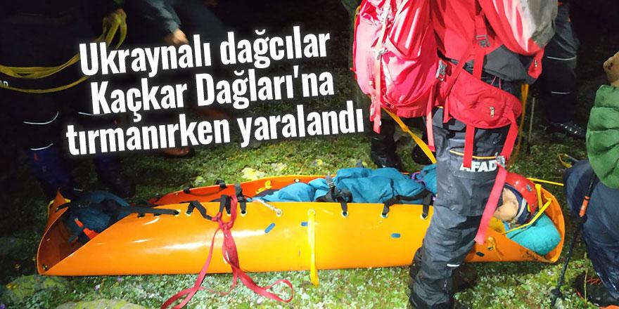 Ukraynalı dağcılar Kaçkar Dağları'na tırmanırken yaralandı