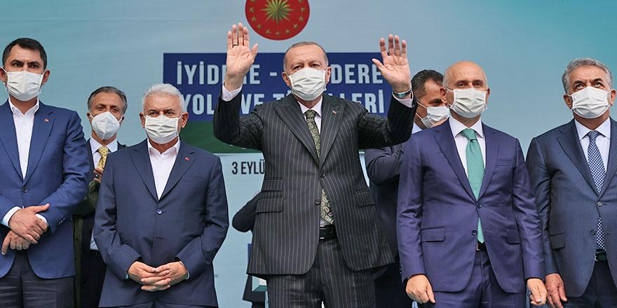 Erdoğan Rize'de