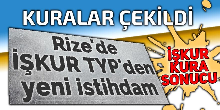 Rize'de İŞKUR TYP kura sonuçları