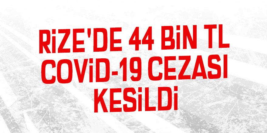 Rize'de 44 bin TL Covid-19 cezası