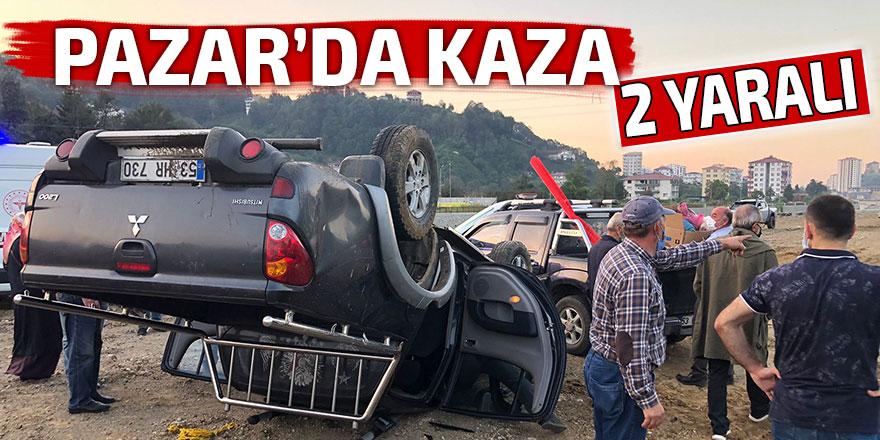 Pazar'da kaza: 2 yaralı