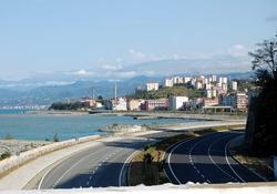 Biten Karadeniz sahil yoluna keşif