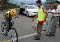 Rize'de dağ bisikleti yarışı